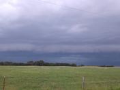 Storm Rolling in to  Heavener