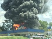 Fire on Wade Hampton Blv
