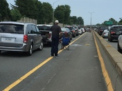 HOV Lane Shut Down Friday Rush Hour Due to Car Fire