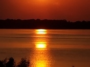 Sunset on the St. LAWRENCE RIVER