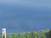 Stormfront north of Swanton Vermont Canadian border,