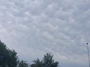 Awesome mamma clouds east of Glenwood about noon!