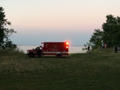 Woman falls down hillside in Grant Park