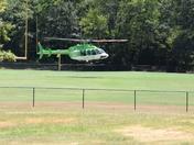 Medical evac landing