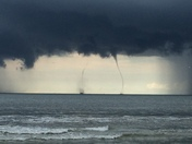 Double waterspout off Hilton Head