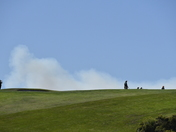 Sobranes Fire viewed over Pebble Beach holes 6 and 7