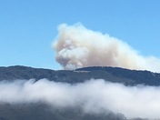 Soberanes fire view from High Meadow area of Carmel