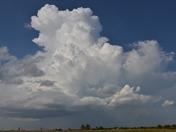 storm cloud today over Bridge Creek