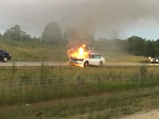 Car fire near Grafton