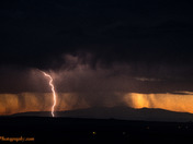 2 spot storms from 2 different sides of town.