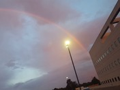 Rainbow at sunrise was beautiful and breathtaking