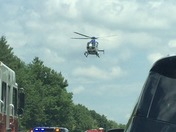 Med flight car crash 495