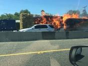 Hwy 99 hay truck fire