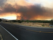 Grass fire west of Winters