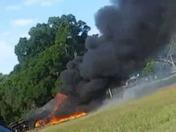 429 truck on fire