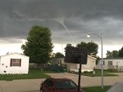 Funnel cloud near cb