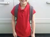 Hannah GLORY First day 3rd grade