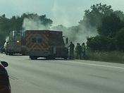 Car fire today on I94 & Calhoun