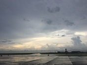 Sunset at Lakefront Airport
