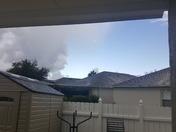 The sky is spilt