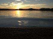 Sunset on Hoel Pond