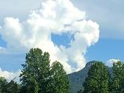 Clouds over Pilot Mountain
