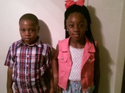 Ameriyah and Markevion Daniels 1st day if school @ Clinton Park and Northside El