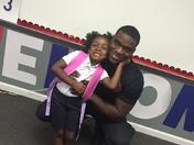 My granddaughters first day of Kindergarten