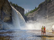 vaureal falls in anticosti national park quebec
