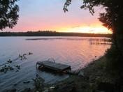 Sunset over Molunkus Lake