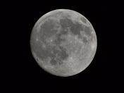 Clear moon over Bridge Creek