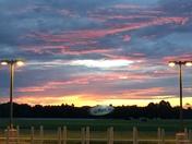 Sunrise on the MetLife blimp on 8/18/2016