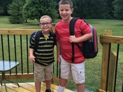 Austin & Mason 1st day of school