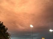 Clouds over BB&T Ballpark 8/19/2016