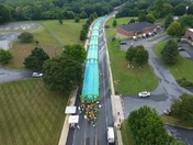 slide the city Aerial drone footage