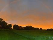 Sunset and Rainbow in Beekmantown, NY 8-21-16- Tarra Judge