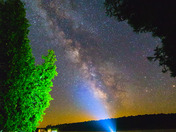 Milky Way Stargazing on the Dock