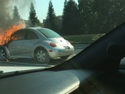 Car fire on I-5 southbound