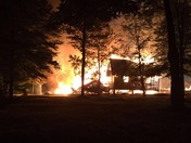 Campground fire in Washington Maine