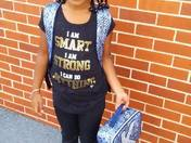 Kimora first day of second grade at Reisterstown Elementary