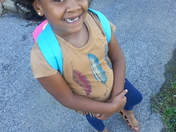 Riahs Ready for Her 1st Day of 1st Grade