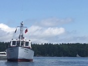 Mail Boat runs aground off Loon Island