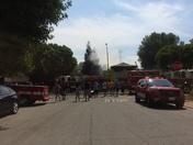 Modesto fire near Agnes Baptist Elementary school