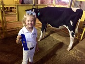 Palmer with her blue ribbon