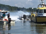 Boat fire at Osprey Point Marina, Rock Hall Maryland this morning