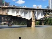 Construction Tarp Fire on Liberty Bridge