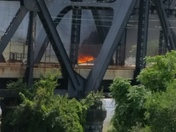 Fire on Liberty Bridge
