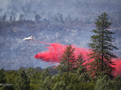 Cal Fire air attack of Saddle Fire near Paradise