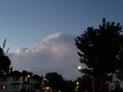 Storm in the distance, looking north from West Allis just west of Woods Cemetery
