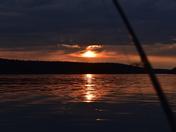 Loving the sunset.